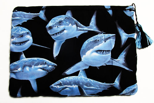 Shark Carry All Pouch, Shark Makeup Bag