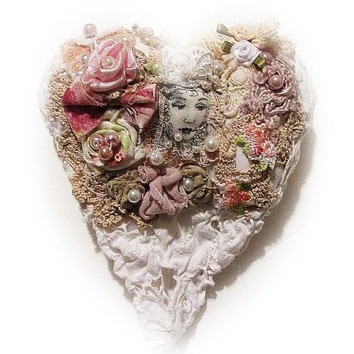 Shabby Chic Princess Heart Ornament