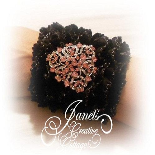 Fabric Cuff-Black Beauty