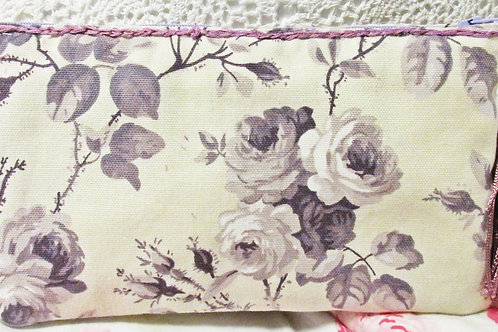 Purple Roses Makeup Bag