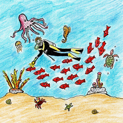Scuba Diver, under the sea, sea creatures