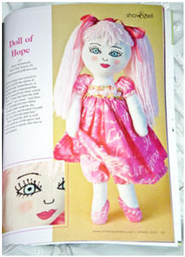 """ DOLL OF HOPE ""AS FEATURED IN THE JAN / FEB / MARCH ISSUE OF ART DOLL QUARTERLY"