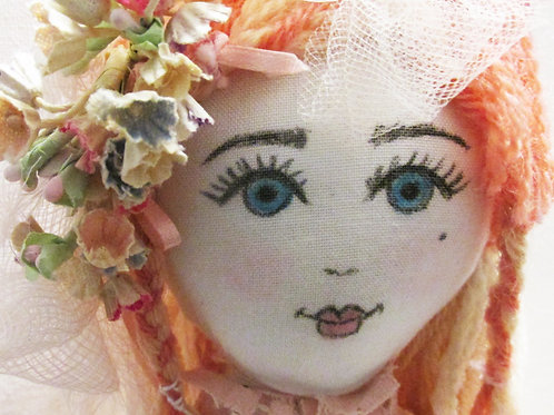 Shabby Chic Marie Antoinette Doll, Pink Doll,Victorian Doll