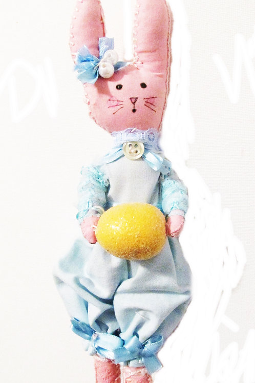 Shabby Chic Easter Bunny-Bella Blue