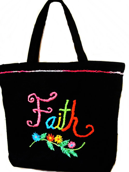 Black Tote, Religious Tote Bag, Christian Tote Bag