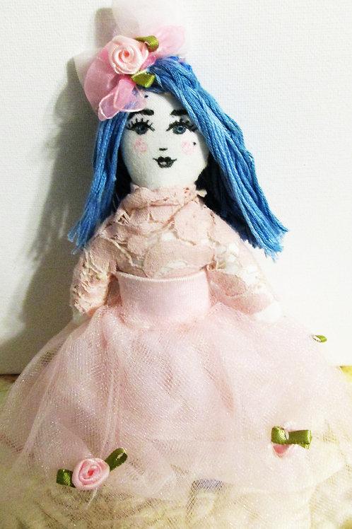 Shabby Chic Doll-Hanna Blue