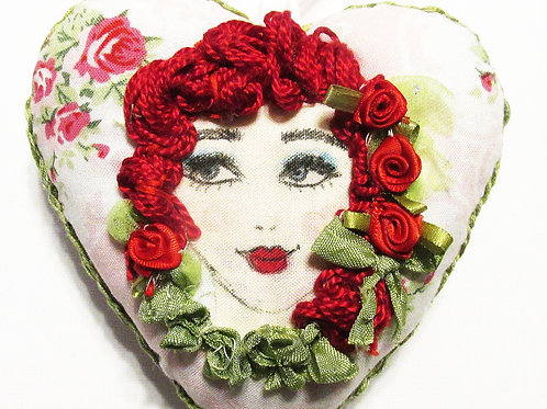 Victorian Heart-Red Haired Girl