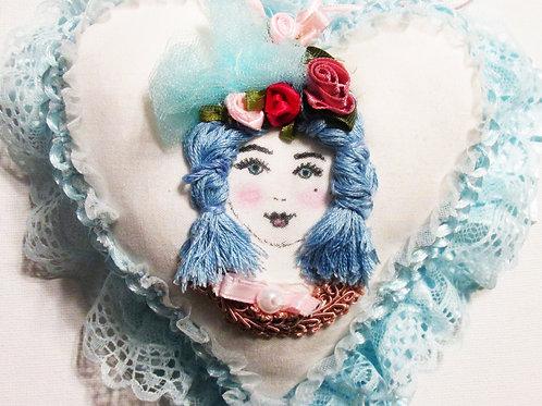 Shabby Chic Heart, Victorian Heart, Handmade Heart