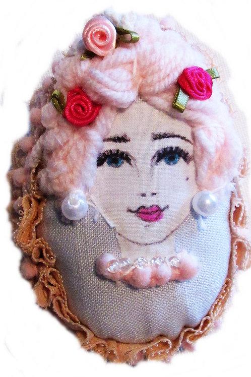 Shabby Chic Victorian Lady Easter Egg, Handmade Easter Egg