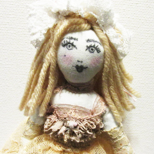 Shabby Chic Doll, Lace Doll, Handmade Doll