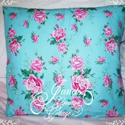 Shabby Chic Rose Cottage Pillow