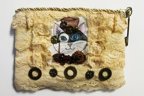 Steampunk Cat Bag, Steampunk Cat Purse