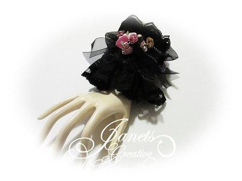 Fabric Cuff- Black Elegance