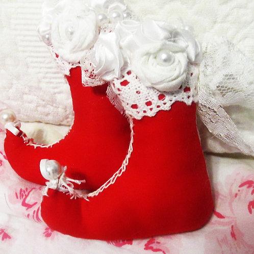 Red Elf Boot Ornaments