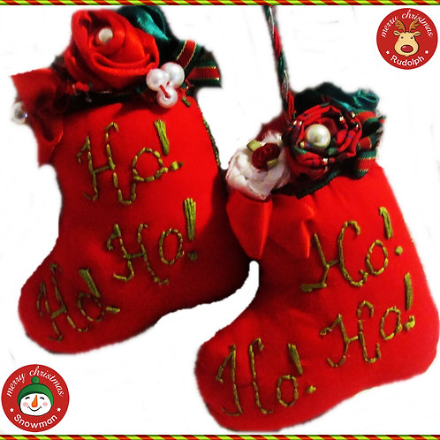 Red Santa Boot Ornaments