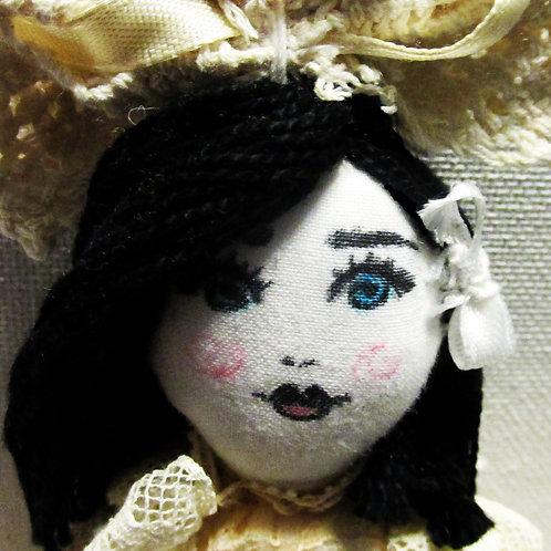 Shabby Chic Victorian Doll- Handmade Doll