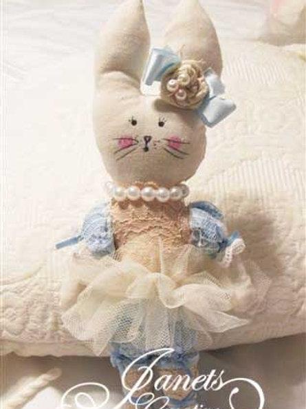 Handmade Fabric Bunnies-Cute Bunnies-Lace Bunnies