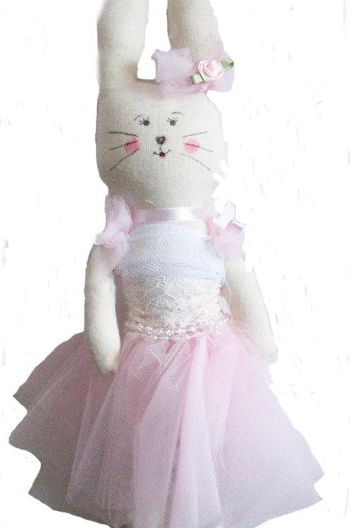 Easter Ballerina Bunny, Handmade Bunny