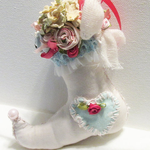 Shabby Chic Christmas Elf Boot Ornament