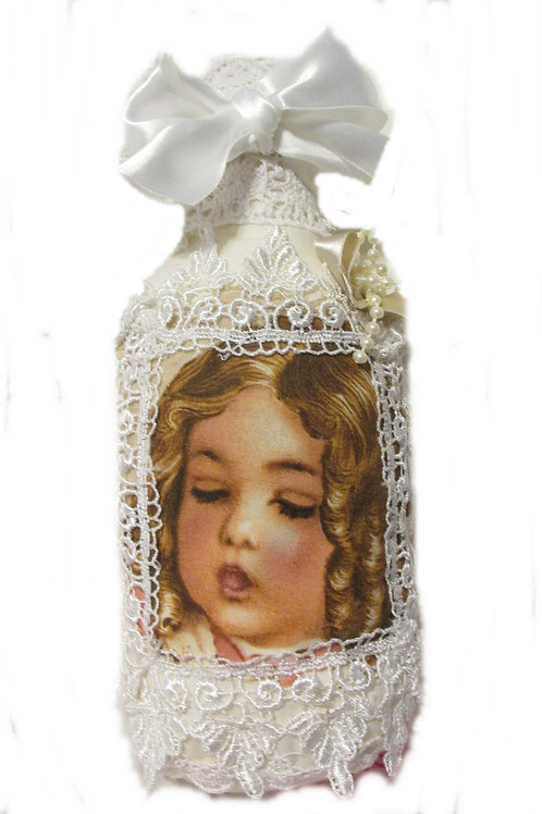 Shabby Chic VictorianDecorative Pillow Bottle~