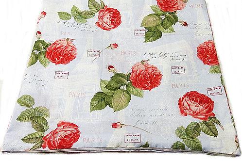 Paris Rose Pillow Cover