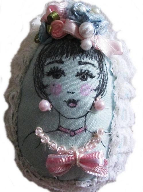 Shabby Chic Easter Egg, Fabric Egg