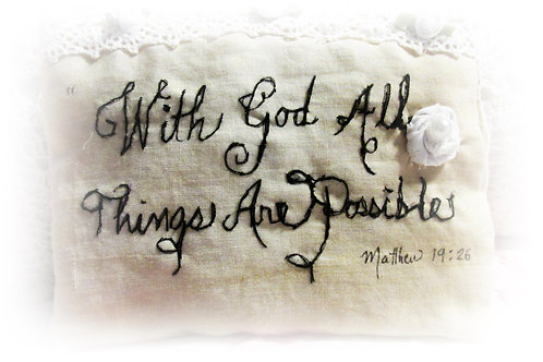 With God All Things Are Possible- Makeup Bag