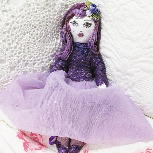 Handmade Doll, Doll, Handcrafted Doll,Pretty in Purple Doll