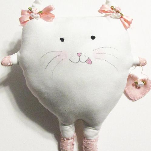 Puffie Cat-Ballerina Cat, Handmade Cat Doll, Cat Doll
