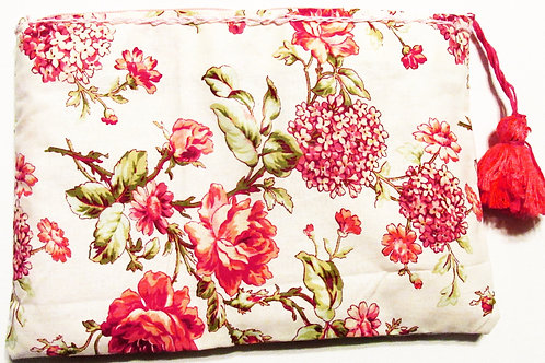 Shabby Chic Floral Makeup Bag, Carry-all-bag, Cosmetic bag