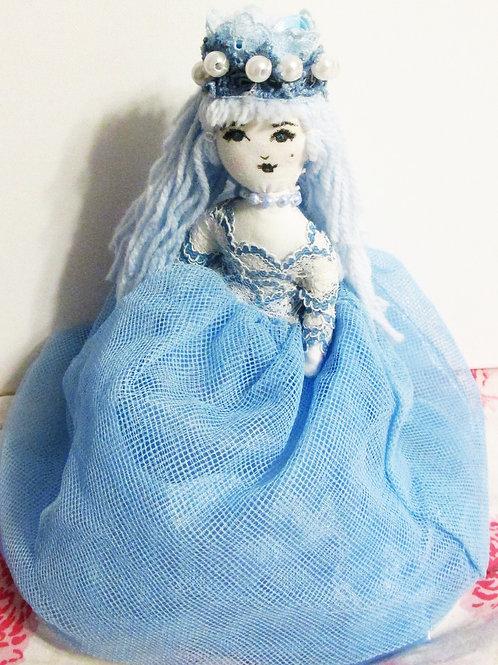 Shabby Chic Cinderella Doll, Handmade Doll