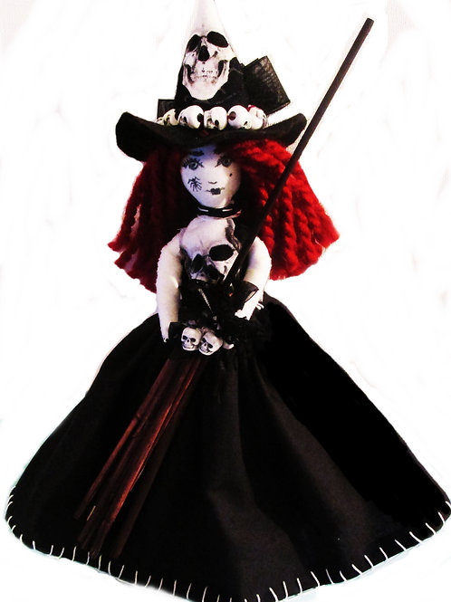 Halloween Witch Doll, Handmade Art Doll