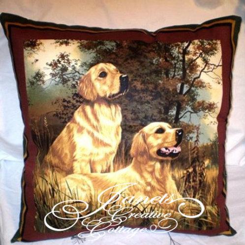 Golden Labrador Dog Retriever Pillow