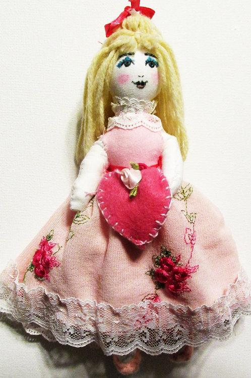 Shabby Chic Doll-Valentine Doll