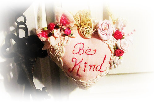 Be Kind Pillow-Heart Pillow-Valentine's Day Heart