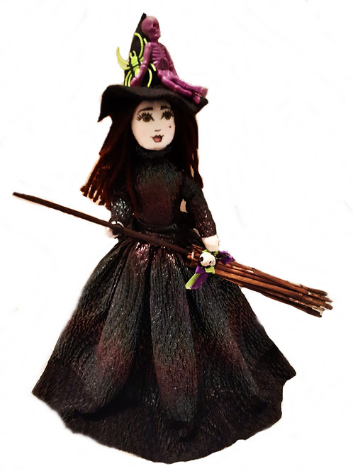 Shabby Chic Halloween Witch Doll