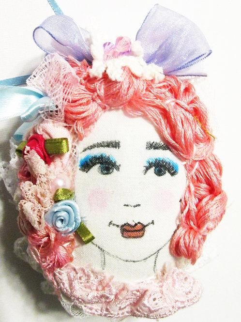 Shabby Chic Easter Egg, Marie Antoinette, Handmade fabric Egg