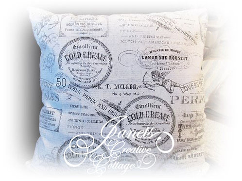 Shabby Chic French Typography Pillow