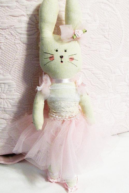 Handmade Fabric Bunnies-Ballerina Bunnies-Cute Bunnies