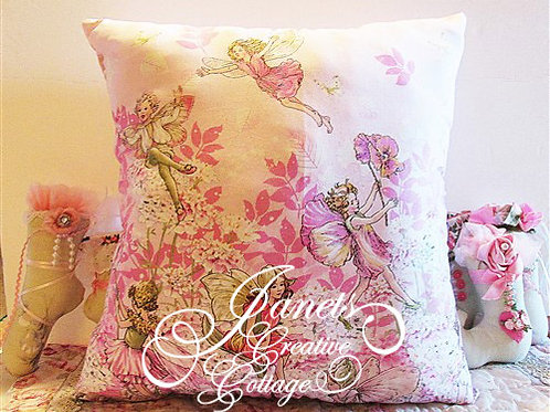 Shabby Chic Fairies Pillow