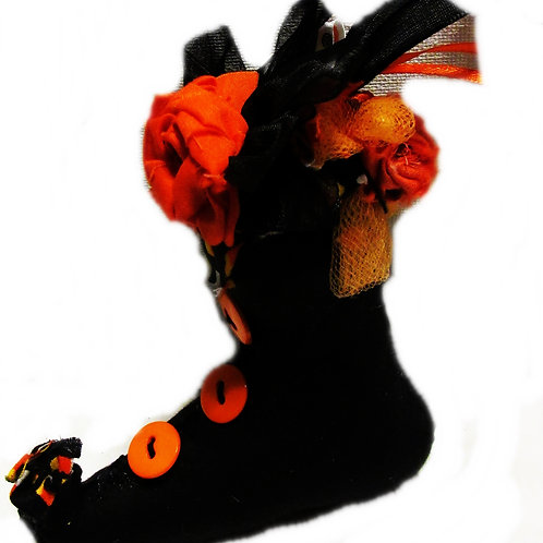 Halloween Witch Boot Ornament, Halloween Decoration