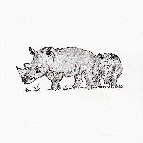 RHINO DIGITAL ART ILLUSTRATION DOWNLOAD