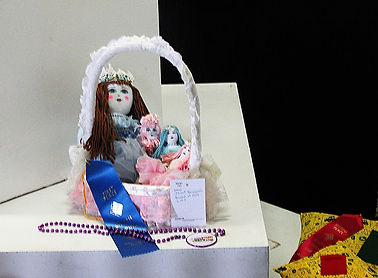 This is a handmade basket of dolls I created for the annual South Florida Fair Craft Show