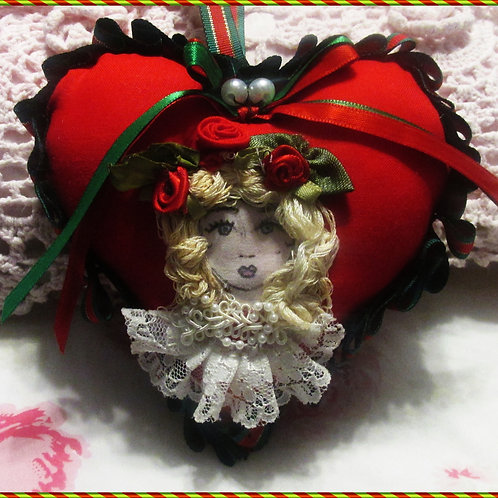 Christmas Heart Ornament~