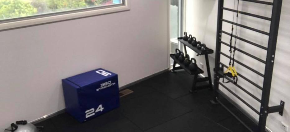 Exercise equipment room