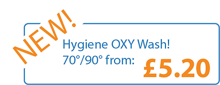 New! Hygiene OXY Washes! 70°/90° from: £5.20