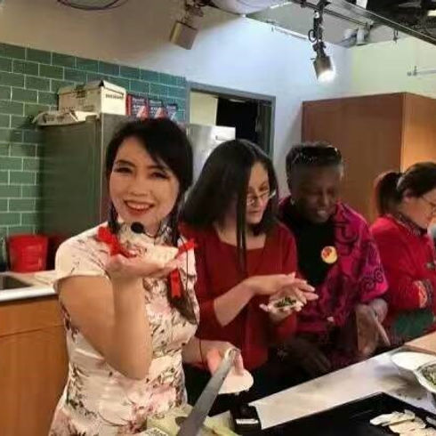 Dumpling Making Show for Chinese New Year Celebration at Reding Termial Market On Feb 4th, 2017