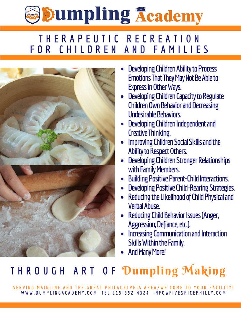 Children Famiiles Dumpling Making