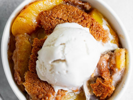 Healthy Peach Cobbler