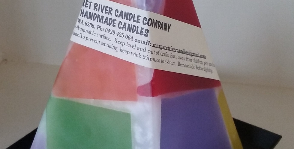 Pyramid Candle - Coloured/Scented